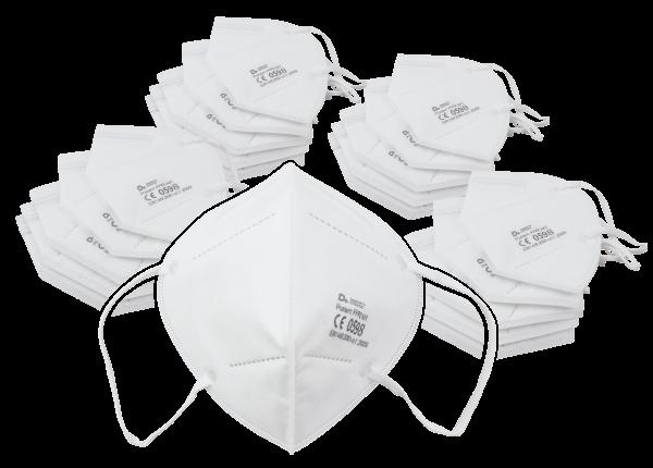 Atemschutzmasken, FFP2, 5-lagig, Nasenbügel, 20er-Pack