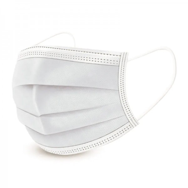 Mund-Nasen-Maske für Kinder, 50er-Pack, Nasenbügel, elastischer Gummizug