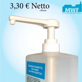 Spenderpumpe Dosierpumpe f. 1L Flasche langer Auslauf DIN28