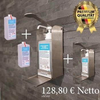 2x MWF Wandspender mit 2x 1 Liter MWF Desinfektionsmittel